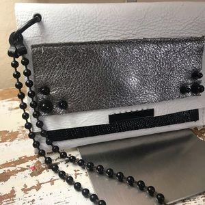 David Galvan Leather Clutch